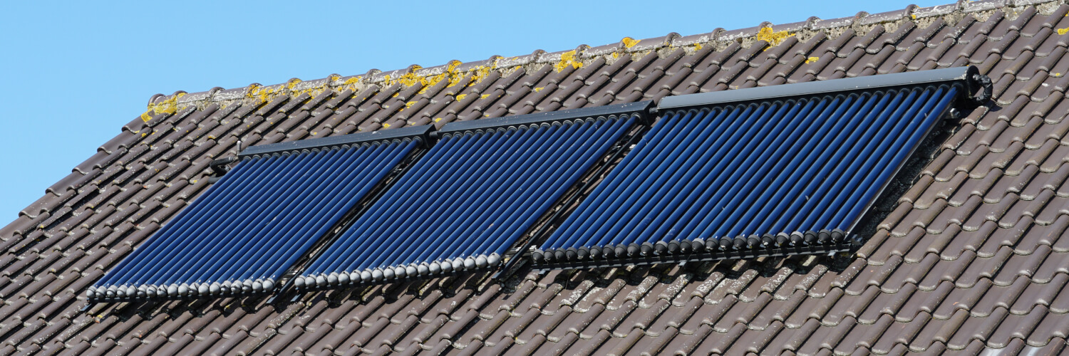 solar thermal panels on roof